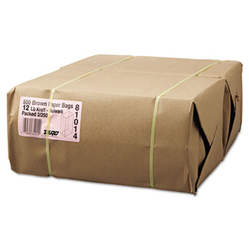 General #12 Paper Grocery, 57lb Kraft, Extra-Heavy-Duty 7 1/16x4 1/2 x13 3/4, 500 bags (BAG GX12-500)