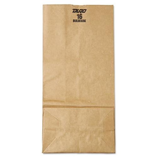General #16 Paper Grocery Bag, 57lb Kraft, Extra-Heavy-Duty 7 3/4 x4 13/16 x16, 500 bags (BAG GX16)