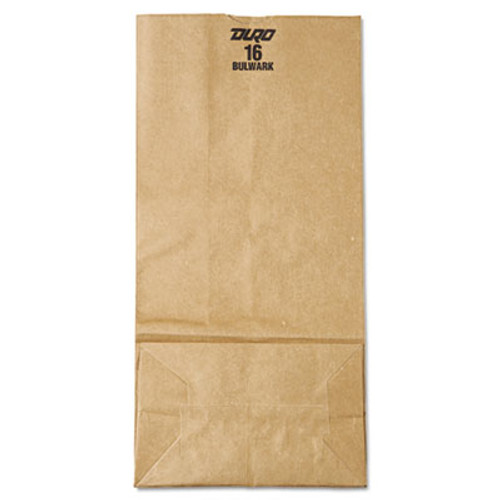 General #16 Paper Grocery Bag, 57lb Kraft, Extra-Heavy-Duty 7 3/4 x4 13/16 x16, 500 bags (BAG GX16)
