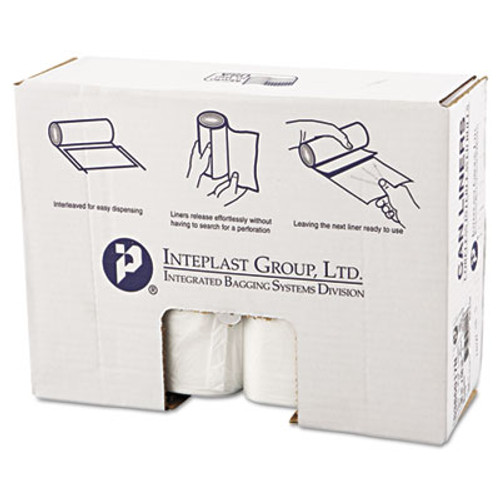 Inteplast Group High-Density Can Liner, 38 x 60, 60gal, 17mic, Clear, 25/Roll, 8 Rolls/Carton (IBS S386017N)