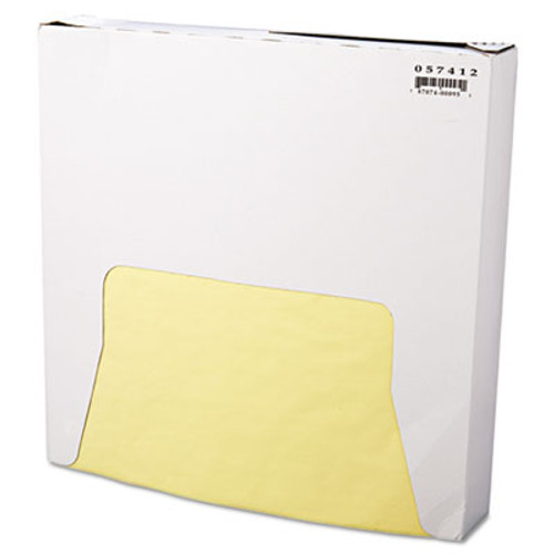 Bagcraft Grease-Resistant Wrap/Liner, 12 x 12, Yellow, 1000/Box, 5 Boxes/Carton (BGC 057412)