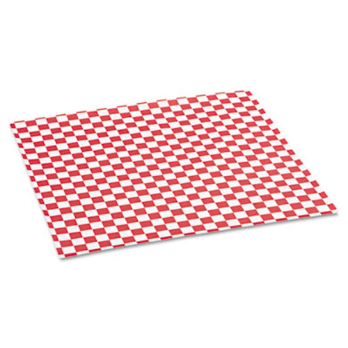 Bagcraft Grease-Resistant Paper Wrap/Liners, 12 x 12, Red Check, 1000/Box, 5 Boxes/Carton (BGC 057700)