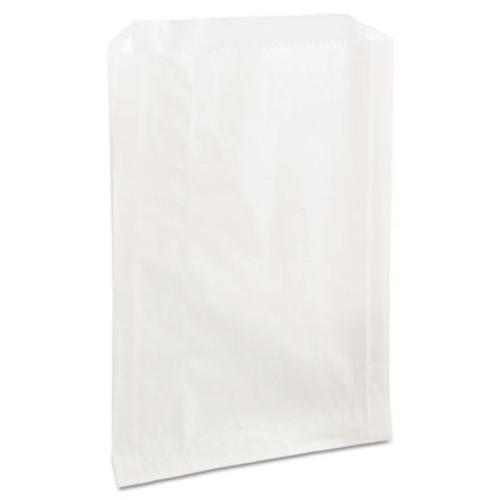 Bagcraft PB25 Grease-Resistant Sandwich Bags, 6 1/2 x 1 x 8, White, 2000/Carton (BGC 300422)