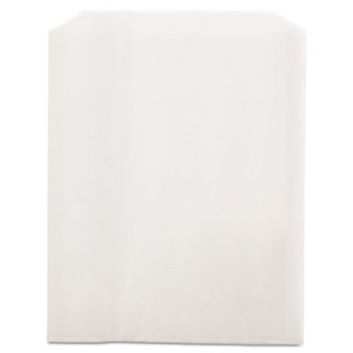 Bagcraft PB19 Grease-Resistant Sandwich/Pastry Bags, 6 x 3/4 x 7 1/4, White, 2000/Carton (BGC 450019)