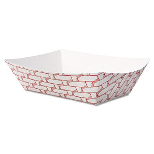 Boardwalk Paper Food Baskets, 1/2 lb Capacity, Red/White, 1000/Carton (BWK 30LAG050)