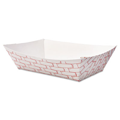 Boardwalk Paper Food Baskets, 2lb Capacity, Red/White, 1000/Carton (BWK 30LAG200)