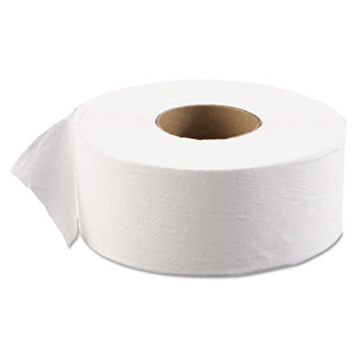 "Boardwalk JRT Jr. Bath Tissue, Jumbo, 1-Ply, 3 1/2"" x 2000ft, 9"" dia, White, 12/Carton (BWK 6101)"
