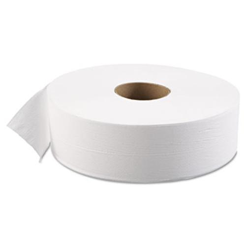 "Boardwalk JRT Bath Tissue, Jumbo, 1-Ply, 3 5/8"" x 4000ft, 12"" dia, White, 6/Carton (BWK 6103)"