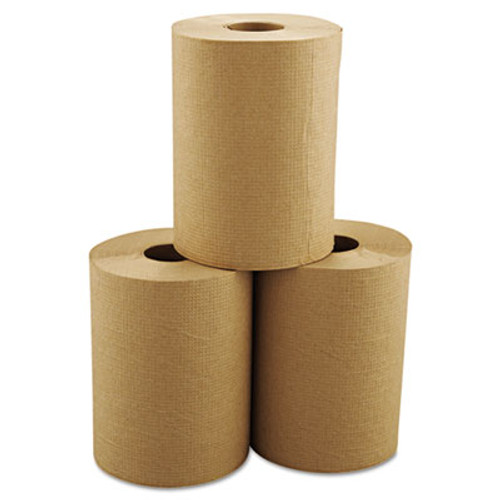 """Morcon Paper Hardwound Roll Towels, 8"""" x 350ft, Brown, 12 Rolls/Carton (MOR R12350)"""