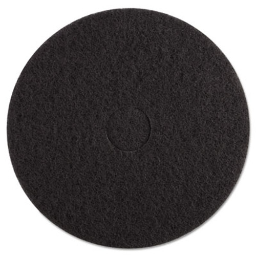 "Boardwalk Standard Floor Pads, 17"" Diameter, Black, 5/Carton (PAD 4017 BLA)"