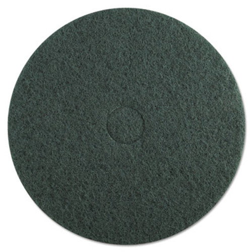"Boardwalk Standard Floor Pads, 20"" Diameter, Green, 5/Carton (PAD 4020 GRE)"