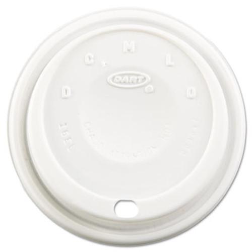 Dart Cappuccino Dome Sipper Lids, Fits 12-24oz Cups, White, 1000/Carton (DCC 16EL)