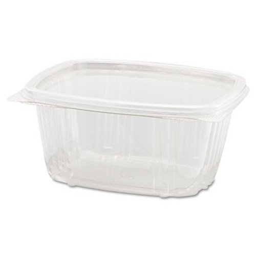 Genpak Clear Hinged Deli Container, 8oz, 5 3/8 x 4 1/2 x 1 1/2, 100/Bag, 2 Bags/Carton (GNP AD08)