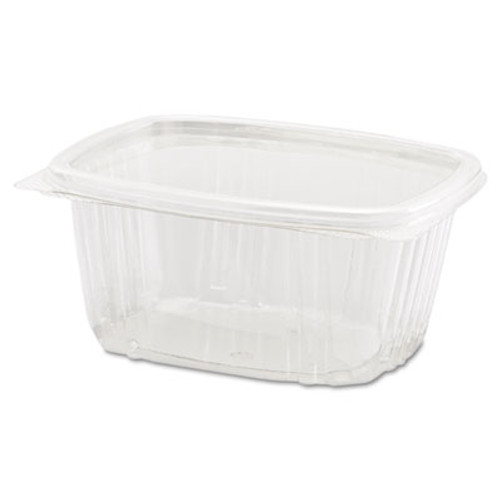 Genpak Clear Hinged Deli Container, 16oz, 5 3/8 x 4 1/2 x 2 5/8, 100/Bag, 2 Bags/Carton (GNP AD16)