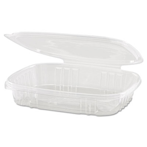 Genpak Clear Hinged Deli Container, 16oz, 7 1/4 x 6 2/5 x 1, 100/Bag, 2 Bags/Carton (GNP AD16S)