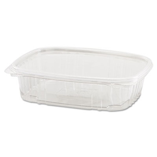 Genpak Clear Hinged Deli Container, 24oz, 7 1/4 x 6 2/5 x 2 1/4, 100/Bag, 2 Bags/Carton (GNP AD24)