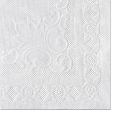 Hoffmaster Classic Embossed Straight Edge Placemats, 10 x 14, White, 1000/Carton (HFM 601SE1014)