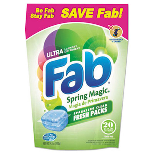 Fab Toss Ins, 20/Pack, 4 Packs/Carton (PBC 37737)