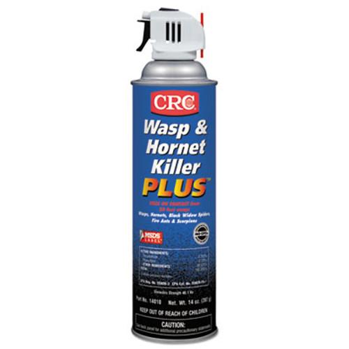 CRC Wasp & Hornet Killer Plus Insecticide, 14 oz Aerosol Can, 12/Carton (CRI 14010)