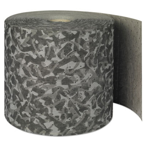"""SPC Battlemat Heavy-Roll Sorbent Pads, 25gal, 15"""" x 150ft, Industrial Camouflage (SBD BM15)"""