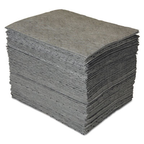 SPC GP MAXX Enhanced Sorbent Pads, .25gal, 15w x 19l, Gray, 100/Carton (SBD GP100)