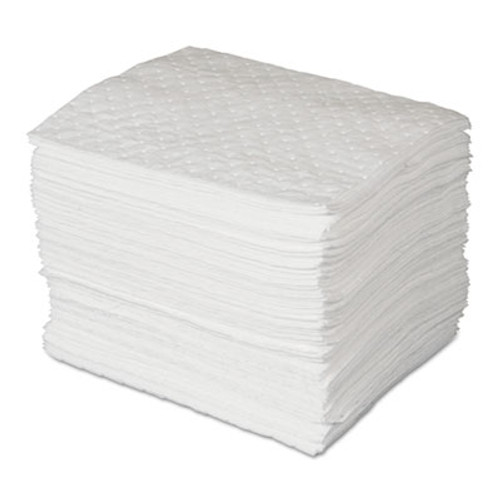 SPC MAXX Enhanced Oil-Only Sorbent Pads, .3gal, 15w x 19l, White, 100/Bundle (SBD SPC300)