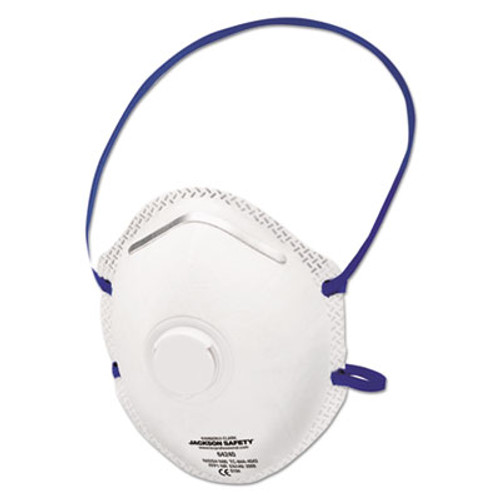 Jackson Safety* R10 Particulate Respirator, N95, White, One Size Fits All, 10/Box, 8/CT (KCC 64240)