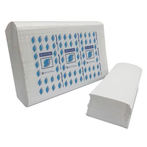 GEN Multi-Fold Paper Towels, 1-Ply, White, 334 Towels/Pack, 12 Packs/Carton (GEN MF4000W)