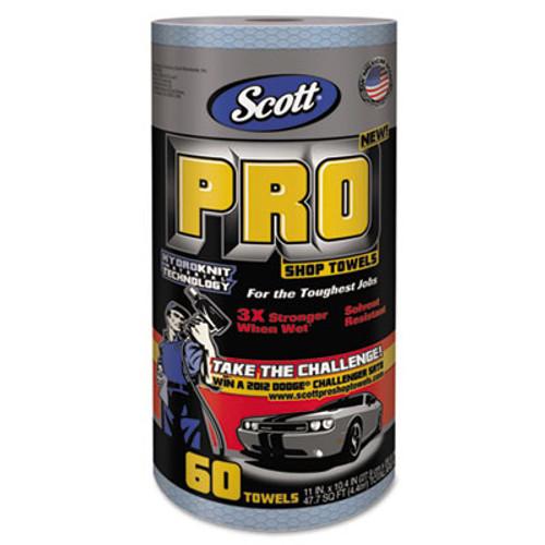 """Scott Pro Shop Towels, Heavy Duty, 1-Ply, Blue, 10 2/5"""" x 11"""", 12 Rolls/Carton (KCC 32992)"""