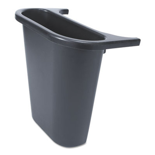 "Rubbermaid Saddle Basket Recycling Bin, Rectangular, Black, 7 1/4""W x 10 3/5""D x 11 1/2""H (RCP 2950-73 BLA)"
