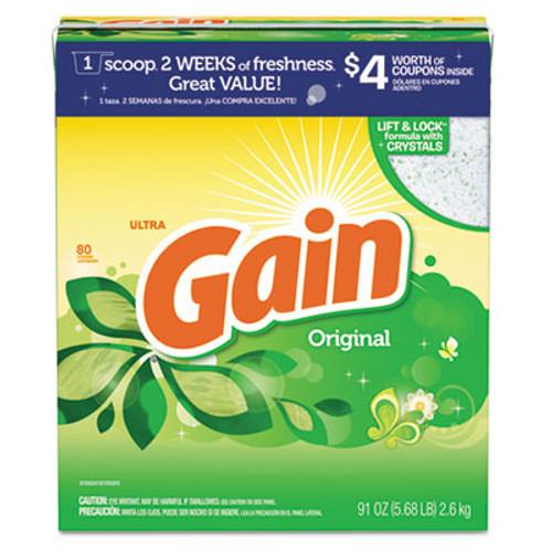 Gain Powdered Laundry Detergent, Original Scent, 91oz Box, 3/Carton (PGC 84910)