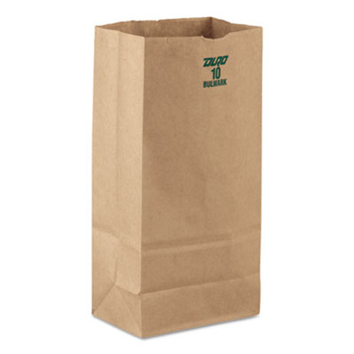 General #10 Paper Grocery, 60lb Kraft, Extra-Heavy-Duty 6 5/16x4 3/16 x12 3/8, 1000 bags (BAG GX10)