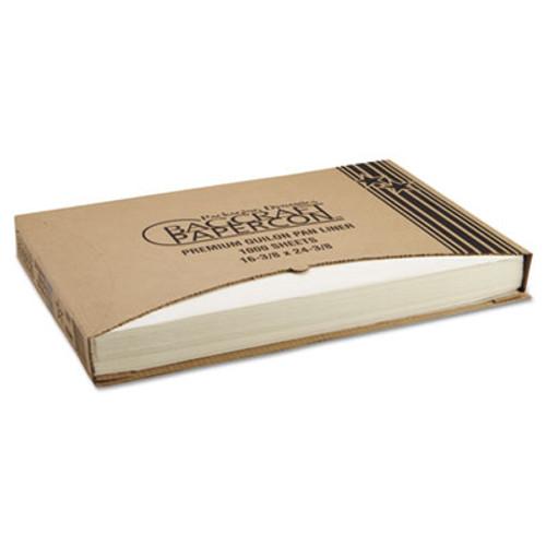 Bagcraft Grease-Proof Quilon Pan Liners, 16 3/8 x 24 3/8, Natural, 1000 Sheets/Carton (BGC 030001)