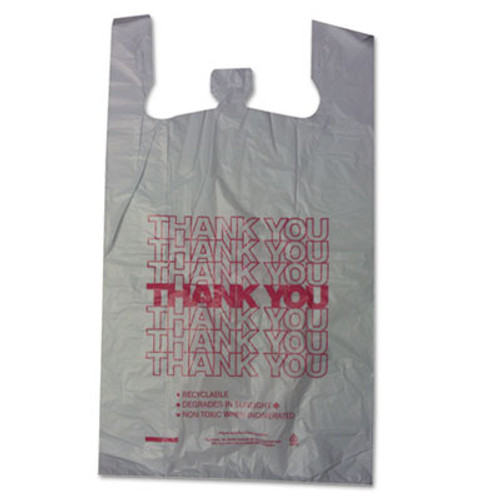 Barnes Paper Company Thank You High-Density Shopping Bags, 18w x 8d x 30h, White, 500/Carton (BPC 18830THYOU)