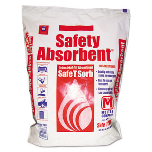 Safe T Sorb All-Purpose Clay Absorbent, 50lb, Poly-Bag, 40/Pallet (MOL 7951)