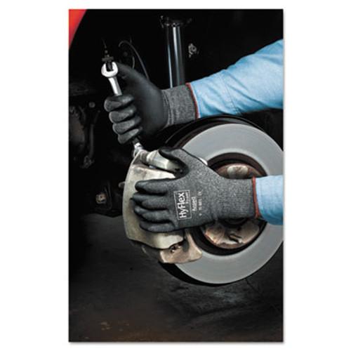 AnsellPro HyFlex Foam Gloves, Dark Gray/Black, Size 8, 12 Pairs (ANS118018)