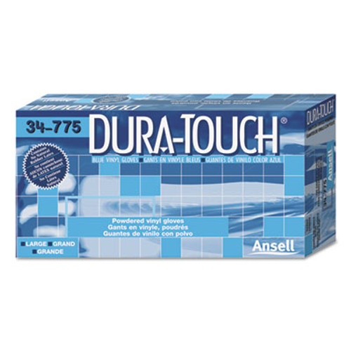 AnsellPro Dura-Touch PVC Gloves, Lightly Powdered, Small, Blue (ANS34775S)