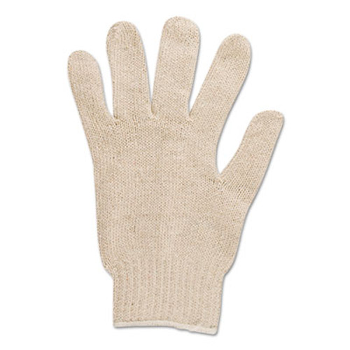 AnsellPro Multiknit Heavy-Duty Cotton/Poly Gloves, Size 9, Off White, 12 Pairs (ANS766109)