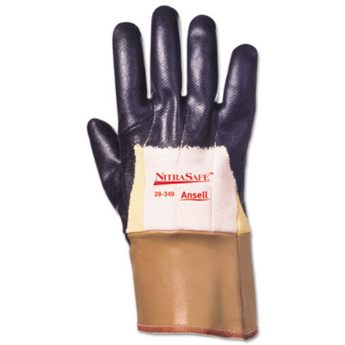 AnsellPro Nitrasafe Kevlar Work Gloves, Size 10, Kevlar/Nitrile/Jersey, Black/Brown, 12 PR (ANS2835910)
