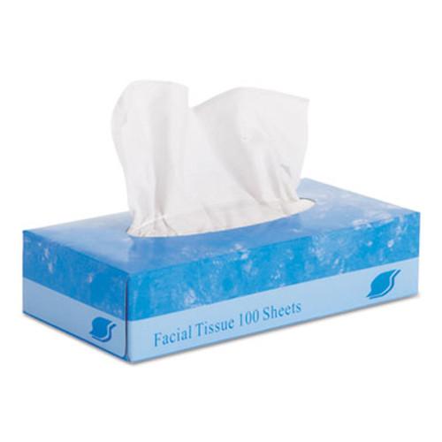 """GEN Facial Tissue, Flat Box, 2-Ply, 8"""" x 8.3"""", 100/Box, 30 Boxes/Carton (GEN 6501)"""