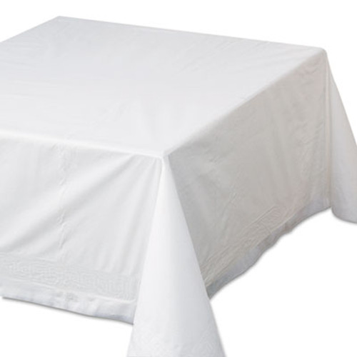"Hoffmaster Tissue/Poly Tablecovers, 72"" x 72"", White, 25/Carton (HFM 210066)"