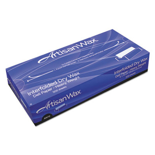 "Bagcraft Interfolded Dry Wax Deli Paper, 10"" x 10 3/4"", White, 500/BX, 12 BX/CT (BGC 012010)"