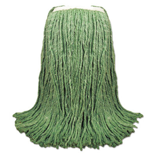 "Boardwalk Cut-End Yarn Mop Head, Green, 1 1/4"" Headband, 12/Carton (UNS 8024G)"