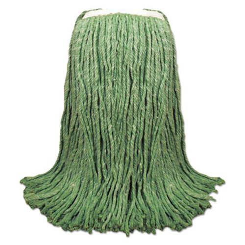 "Boardwalk Cut-End Yarn Mop Head, Green, 1 1/4"" Headband, 12/Carton (UNS 8024G)"