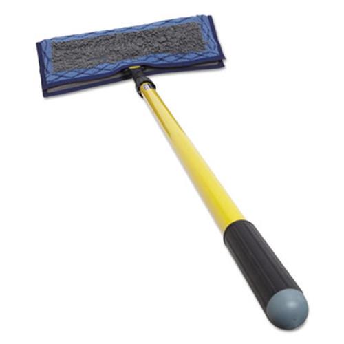 "Rubbermaid Clean Water System Starter Kit, 51.31"" Stainless Steel Handle, Microfiber Pad (RCP 1807914)"
