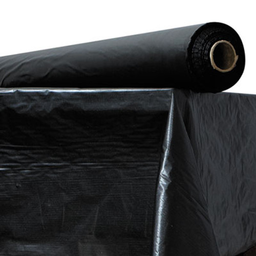 "Atlantis Plastics Plastic Table Cover, 40"" x 300 ft Roll, Black (ATL2TCBK300)"