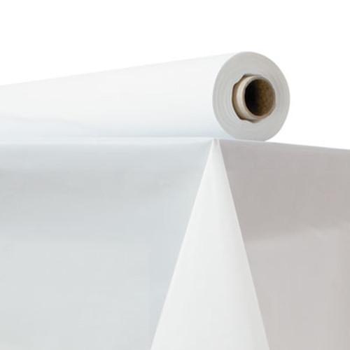 "Atlantis Plastics Plastic Table Cover, 40"" x 150 ft Roll, White (ATL2TCW150)"