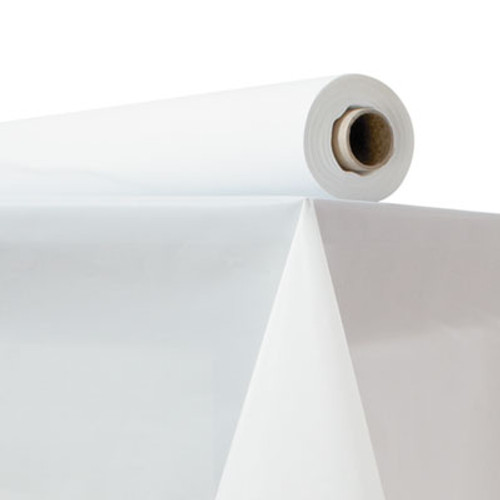 "Atlantis Plastics Plastic Table Cover, 40"" x 150 ft Roll, White (ATL2TCW150)"