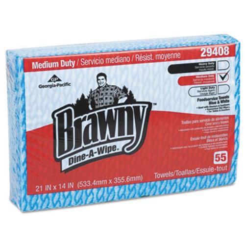 Brawny Brawny Dine-A-Wipe Foodservice Towels, 14 x 21, Blue/White, HYDROKNIT (GPC 294-08)