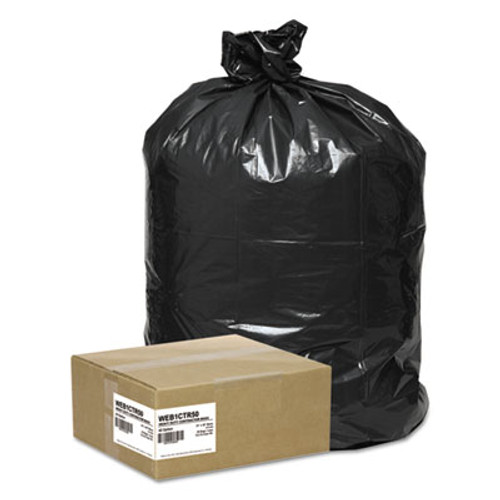 Handi-Bag Super Value Pack Contractor Bags, 42gal, 2.5 Mil, 33 x 48, 50/Carton (WEB 1CTR50)
